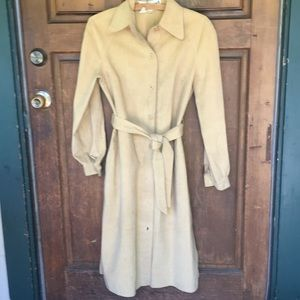 Vintage Suede Coat Tan